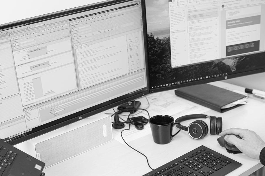 Elpro har marknadsledande kompetens inom programmering av styrsystem för automatisering av maskinutrustning.